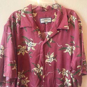 Pusser's MEDIUM Hawaiian Linen Shirt